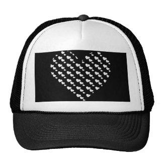 Lots of Love (Heart Pattern) (White) Trucker Hat