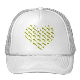 Lots of Love (Heart Pattern) (Yellow) Trucker Hat