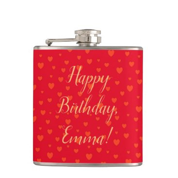 Lots Of Love Hearts Flask