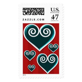 Lots Of Love Holiday Hearts Custom Postage