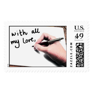 Lots of love postage stamp