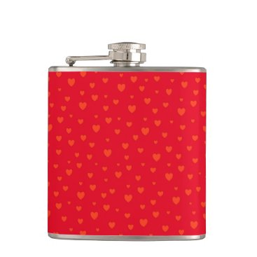 Lots Of Love Red Hearts Flask
