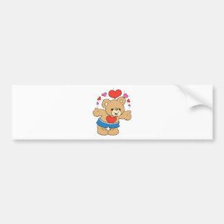 lots of love valentine teddy bear design bumper sticker