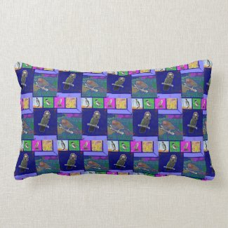 Lots of Many Colourful Birds Reversible Pillow