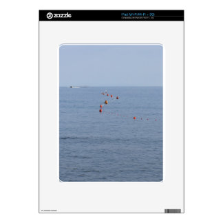 Lots of mooring buoys floating on water in marina decals for the iPad