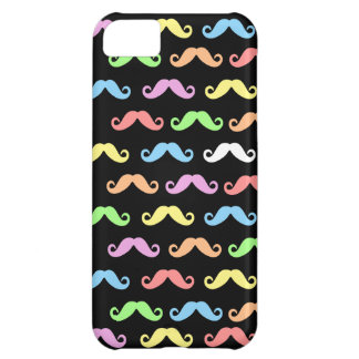 Lots of Mustaches (black) Case For iPhone 5C