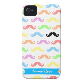 Lots of Mustaches iPhone case (customizable!) iPhone 4 Covers