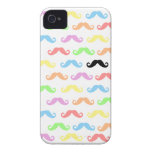 Lots of Mustaches (white) Case-Mate iPhone 4 Cases