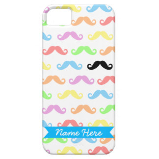 Lots of Mustaches (white) Customizable! iPhone SE/5/5s Case