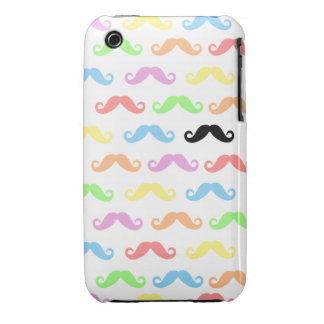 Lots of Mustaches (white) Iphone Case-Mate iPhone 3 Cover