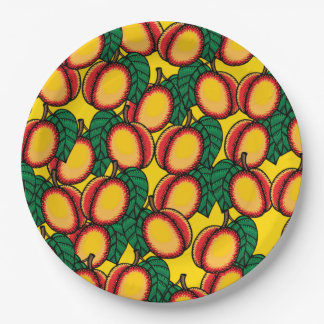 Lots of Nectarines Paper Plate