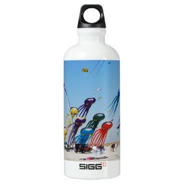 Beach Themed Lots of Octopi Aluminum Water Bottle