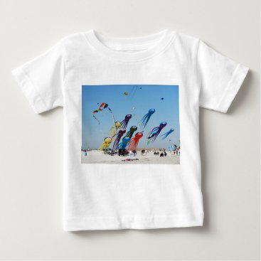 Beach Themed Lots of Octopi Baby T-Shirt