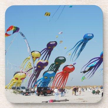 Beach Themed Lots of Octopi Coaster