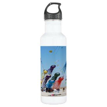 Beach Themed Lots of Octopi Water Bottle