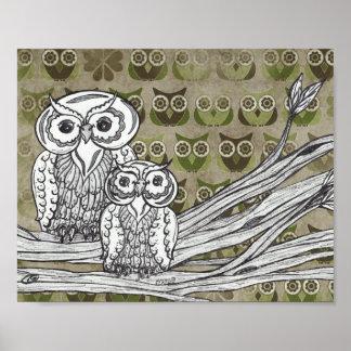 Lots of Owls Print