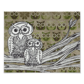 Lots of Owls Print