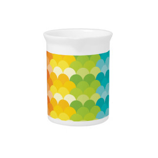 Lots of Painted Palette Rainbow Scallops Drink Pitcher