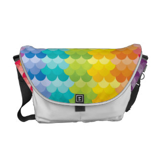 Lots of Painted Palette Rainbow Scallops Messenger Bag