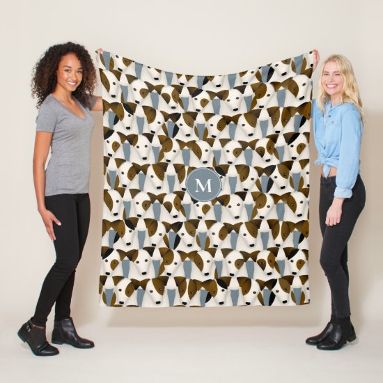 Lots of Parson Jack Russell Terriers dogs pattern Fleece Blanket