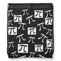 Lots of Pi Symbols - Math Themed Drawstring Backpack
