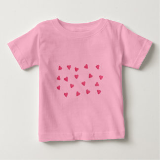 lots of pink candy hearts background kids t-shirt