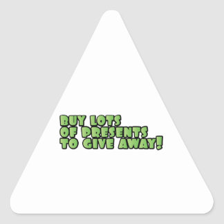 Lots Of Presents Triangle Sticker