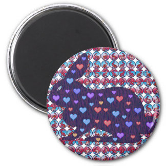 Lots of Rabbits 2 Inch Round Magnet
