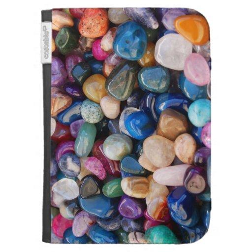 Lots of Rocks Colorful Gemstones Kindle Cases