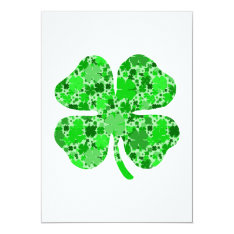 Lots Of Shamrocks.png Card at Zazzle