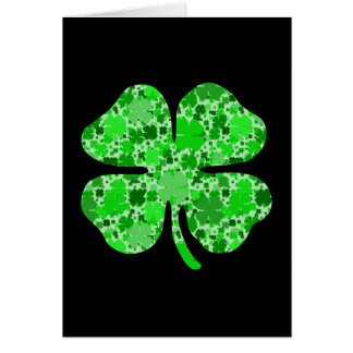 lots of shamrocks.png stationery note card