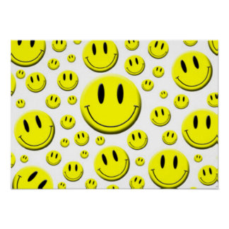 Lots of Smiley Faces Poster