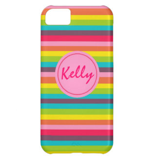 Lots of Stripes Monogram Personalized Case iPhone 5C Covers