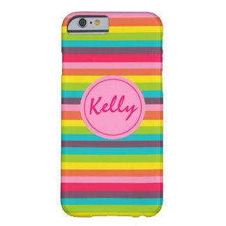 Lots of Stripes Monogram Personalized Case Barely There iPhone 6 Case