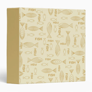 Lots of Tan Fishes Binder