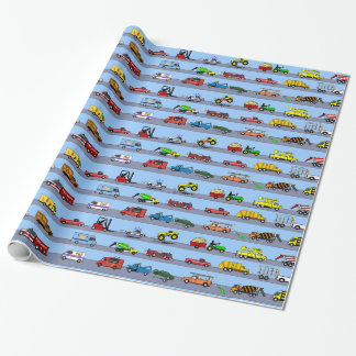 Lots of Trucks Fun Kids Gift Wrapping Paper