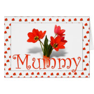 Lots of Tulips for Mum on Mothering Sunday Greeting Card