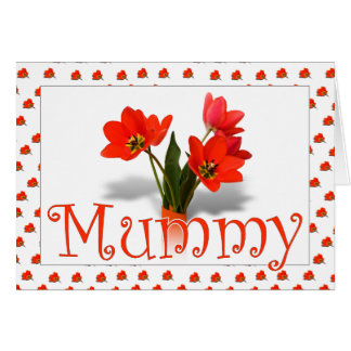 Lots of Tulips for Mum on Mothering Sunday Card