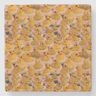 Lots Of Yellow Rubber Ducks Cute Stone Coaster