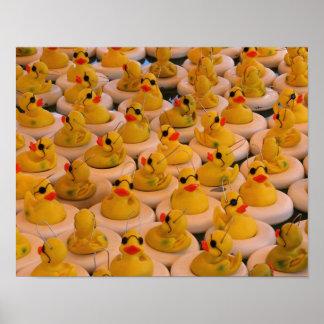 Lots Of Yellow Rubber Ducks Print