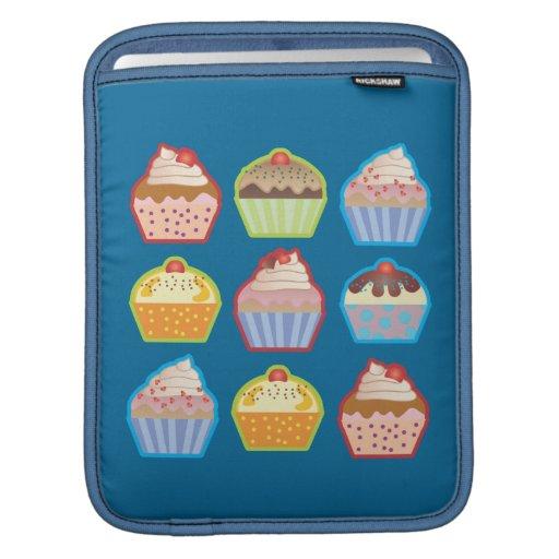 Lotsa Cupcakes Blue iPad Sleeve