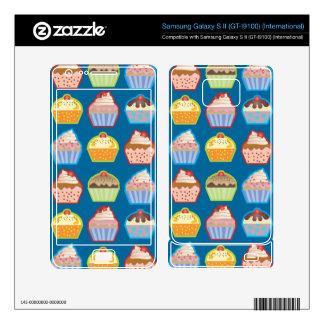 Lotsa Cupcakes Blue Samsung Galaxy S II Decal