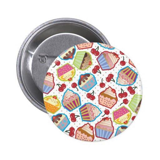 Lotsa Cupcakes n Cherries Button