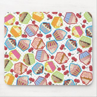 Lotsa Cupcakes n Cherries Mousepad