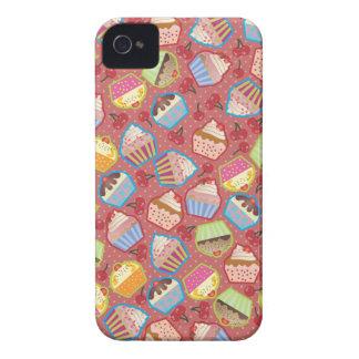 Lotsa Cupcakes n Cherries Pink BlackBerry Case