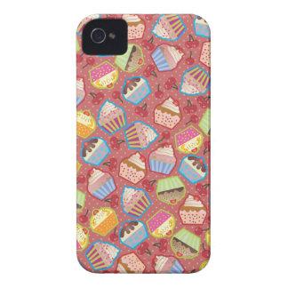 Lotsa Cupcakes n Cherries Pink iPhone 4 Cover