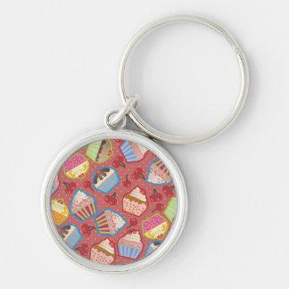 Lotsa Cupcakes n Cherries Pink Keychain
