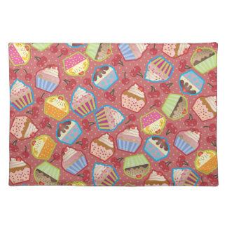 Lotsa Cupcakes n Cherries Pink Placemat