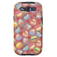 Lotsa Cupcakes n Cherries Pink Samsung Case Samsung Galaxy S3 Cover