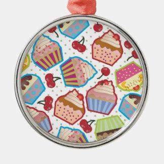 Lotsa Cupcakes n Cherries Premium Round Ornament